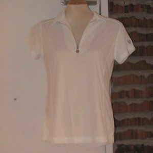Daily Sports Zip Polo Shirt Golf Size L NWT